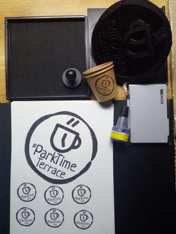 Штамп печать для коробок, упаковки, картона, крафтовых пакетов