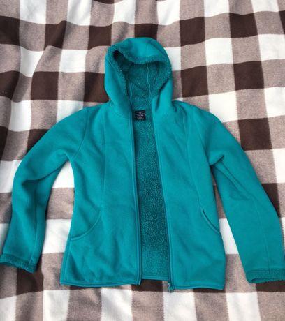 Бірюзова дівчача куртка. Флисовая