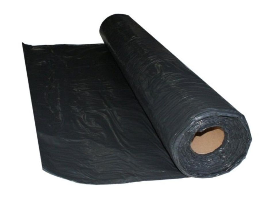 Folia czarna budowlana ochronna TYP 200 6x33 Folie Czarne Budowlane Aleksandrów Łódzki - image 1