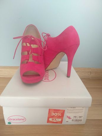 Różowe buty rozmiar 38
