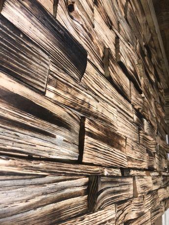 Rustykalna płytka drewniania ścienna - Sosna Fuego 3d