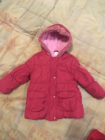 Куртка, Комбинезон зимний Libellulle р.92 для девочки, пух, теплый.