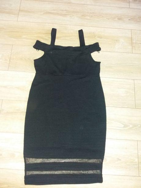 Sukienka czarna karnawałowa wieczorowa
