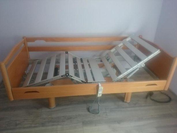 Łóżko z pilotem - łóżko rehailitacyjne + materac piankowy w poszewce