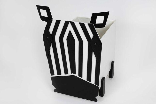 Skrzynka na zabawki Zebra Rękodzieło