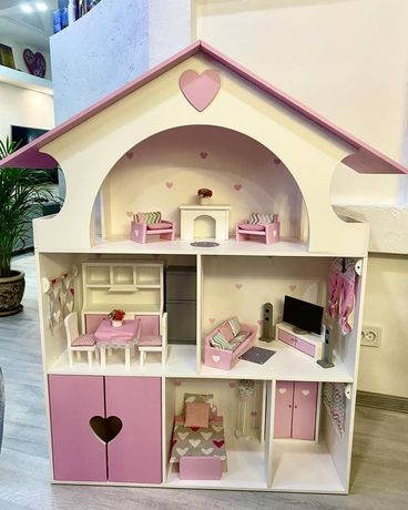 Домик для кукол, кукольный домик для Барби, ляльковий будиночок , Лк