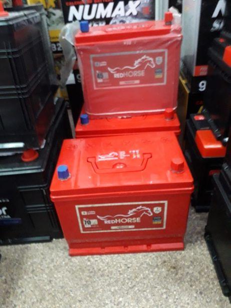 Акумулятори Для азіййских авто RED HORSE Asia 45,60,70,95Ач 2р Гаранті