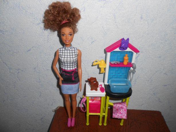 Наборы Барби: парикмахер для животных и Челси с собачкой.