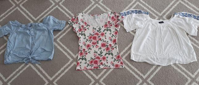 Mega zestaw ubrań na lato S 36 wyprzedaż letnie topy t-shirt