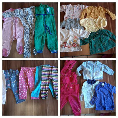Komplet/pakiet ubranek niemowlęcych 74cm 6-9 miesięcy dla dziewczynki