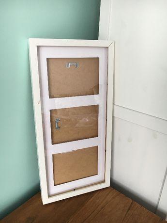 możliwość wysyłki / IKEA RIBBA ramka biała potrójna na zdjęcia 50x23