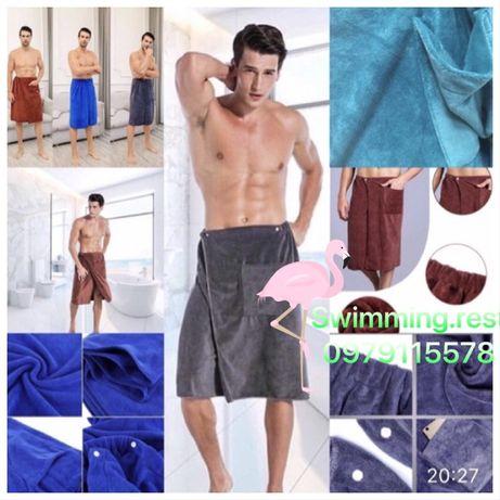 Мужское полотенце для сауны и бани микрофибра полотенце юбка (килт)