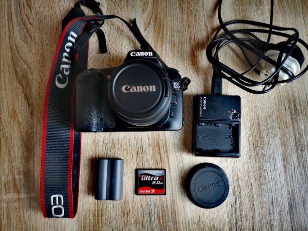 OKAZJA! Aparat zestaw Canon EOS 30D 12 tys Body + obiektyw + akcesoria