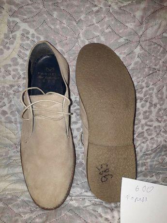 Мужские туфли, замш