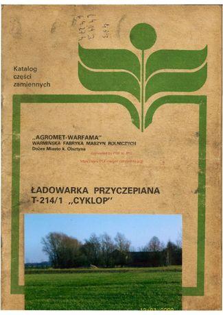 Katalog części Ładowacz Cyklop T - 214/1