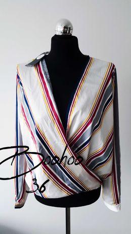 Boohoo Koszula kopertowy dekolt 36