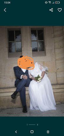 Suknia ślubna muslinowa
