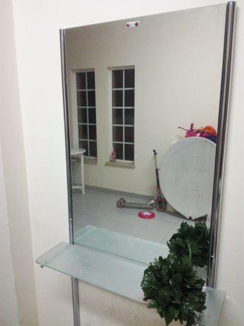 Mobiliario cabeleireiro, 2 espelhos