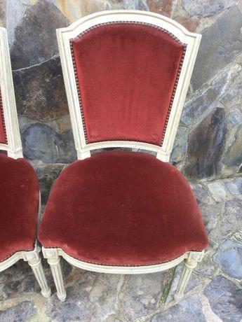 Cadeira 11 Cadeiras Centenárias Estilo Império de Época Veludo 92 cm