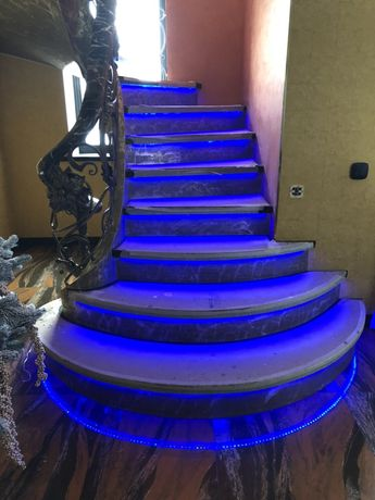 RGB-WS2811 NeoPixels Двухмаршевые лестницы
