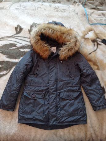 Зимова куртка-парка на хлопчика 9-10 років