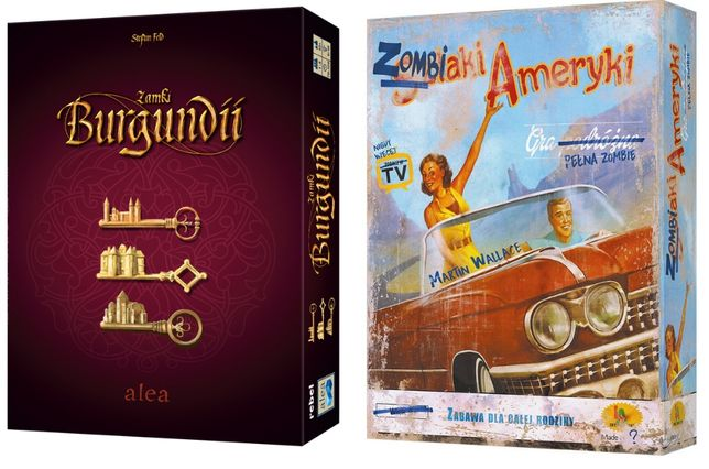 Duopak: Zamki Burgundii Big BOX + Zombiaki Ameryki gra NOWA (folia)