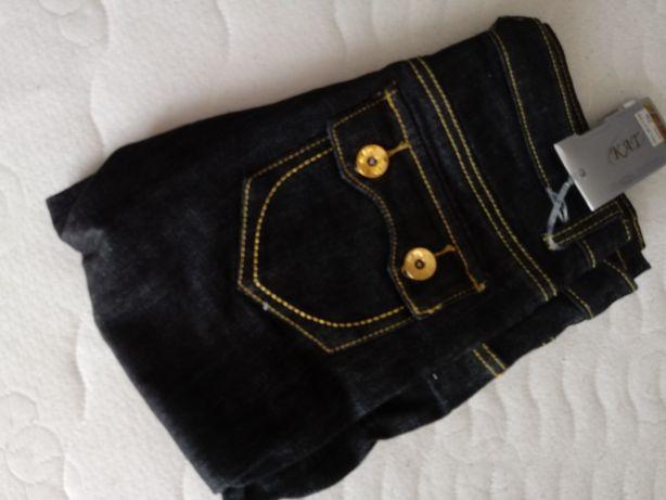 Nowe spodnie jeans dżinsy xs złoto