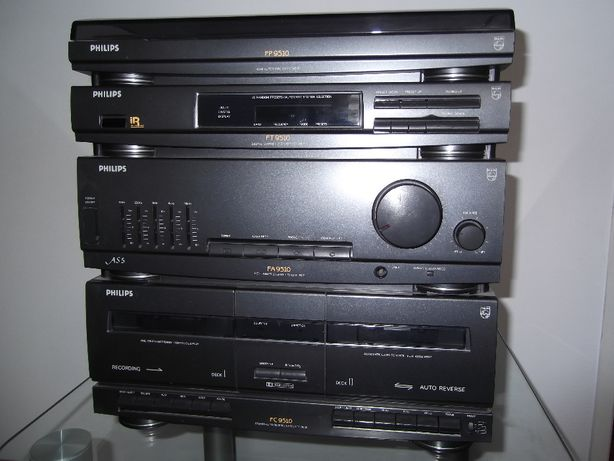 Wieża z gramofonen Philips FP, FT, FA i FC 9510