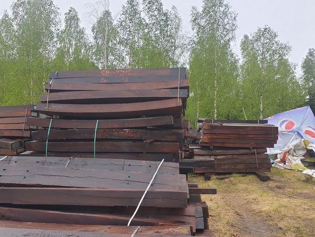 Podkłady nie kolejowe belki palisady