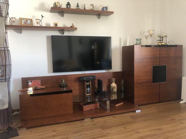 Conjunto sala madeira cerejeira