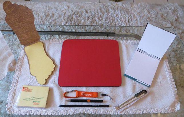 Materiais de escrita e corte - 8 peças