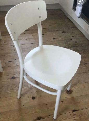 IKEA IDOLF Krzesło drewniane, białe
