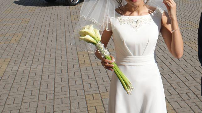 Skromna suknia ślubna Kasma Papa Michel rozmiar 38 model prosty