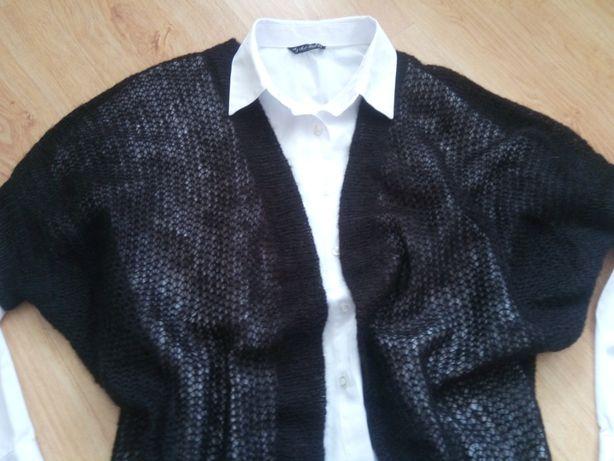 sweterek-narzutka-bolerko H&M 60% akryl-moher