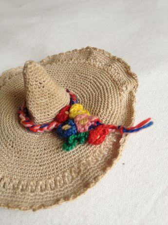 Agulheiro vintage chapéu com flores