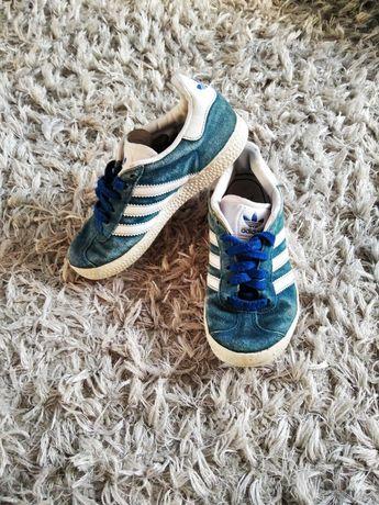 Adidas Gazelle turkusowe niebieskie zamszowe
