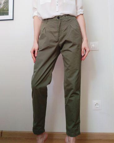 брюки чиносы цвета хаки H&M