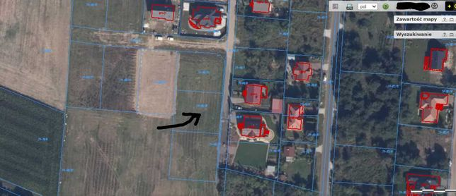 Działka budowlana 844m Rożno-Parcele (Aleksandrów Kujawski)