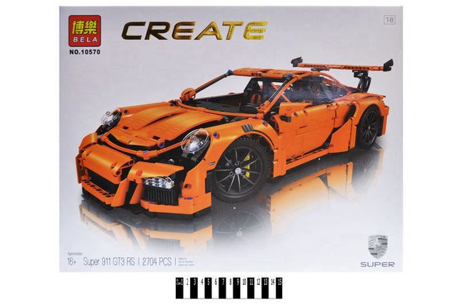 ⫸ Конструктор Bela 10570 Porsche 911 GT3 RS аналог Lego Technic 42056