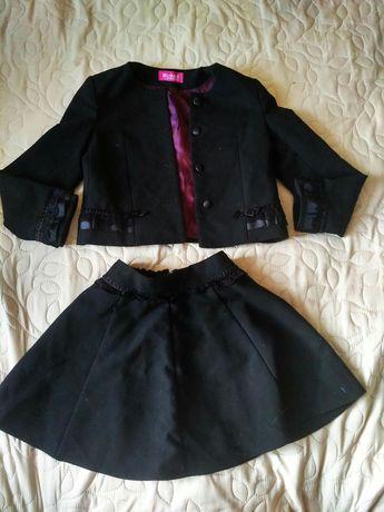 Школьная форма для девочки пиджак юбка блузка сарафан 128