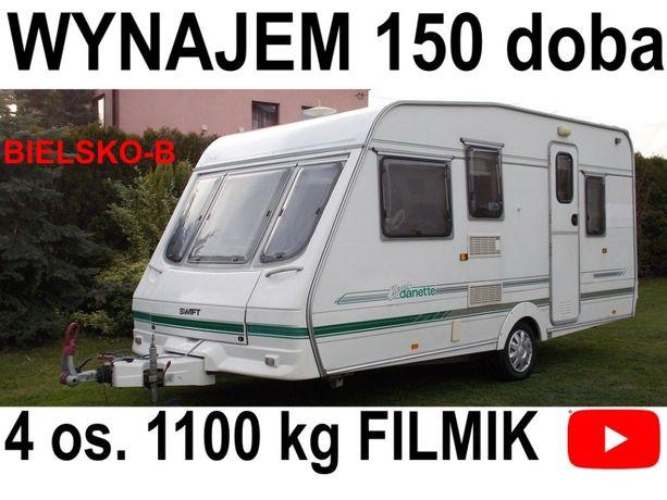 Przyczepa Kempingowa 4-5os.1100 kg BIELSKO Cempingowa kampingowa