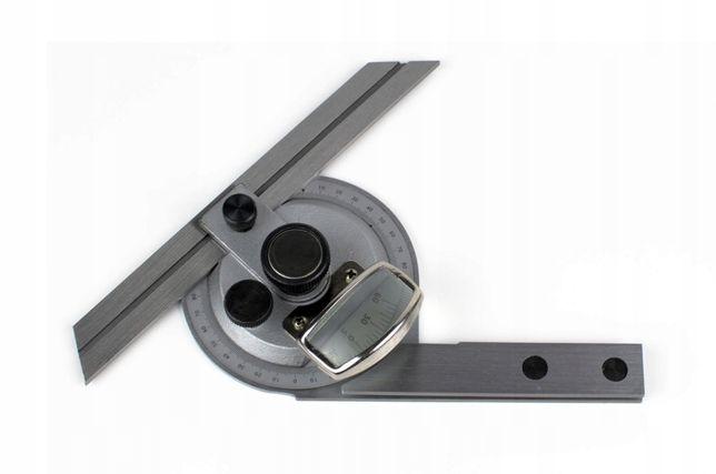 Kątomierz uniwersalny MKMb 0-360°/ 5' z lupą Magnum