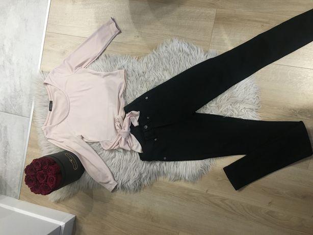 Zestaw bluzka plus spodnie wysoki stan
