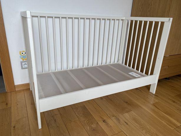 Łóżeczko Ikea Gulliver z materacem Vyssa 120x60