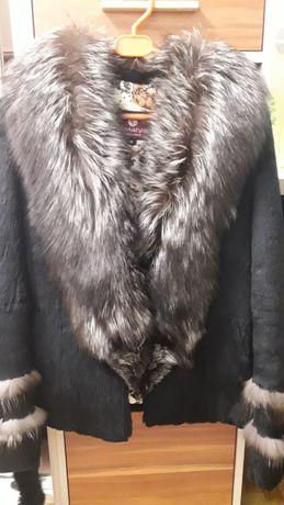 Продам полушубок, натуральне хутро чорнобурка