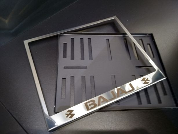Рамка под мото номер с надписью BAJAJ Баджадж(мотоцикл) моторамка
