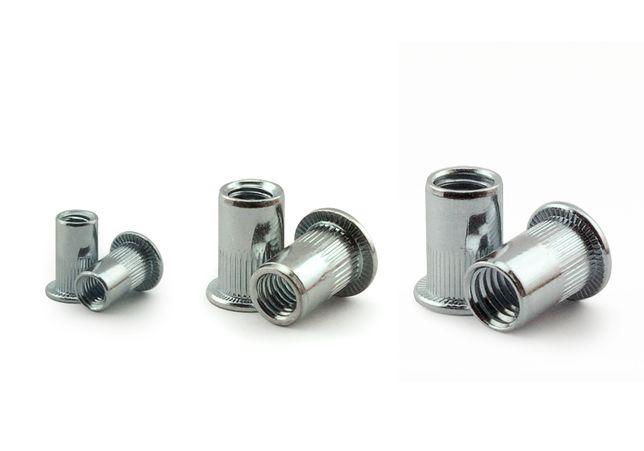 Резьбовые заклепки М3 / М4 / М5 / М6 / М8 клепальные гайки сталь цинк