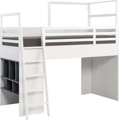 Łóżko piętrowe z antresolą