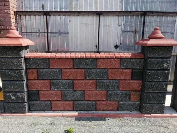 Колотий блок для забору та стовпів.