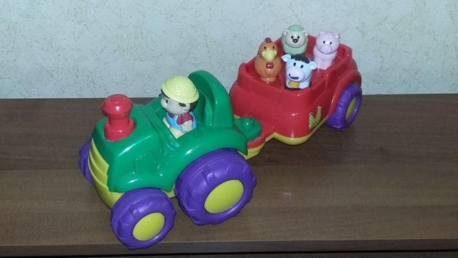 Трактор с прицепом Keenway музыкальный